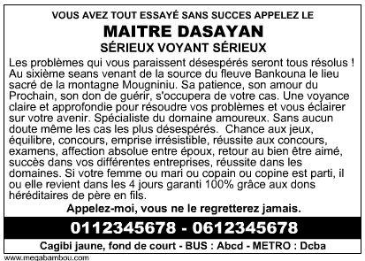 Marabout Dasayan